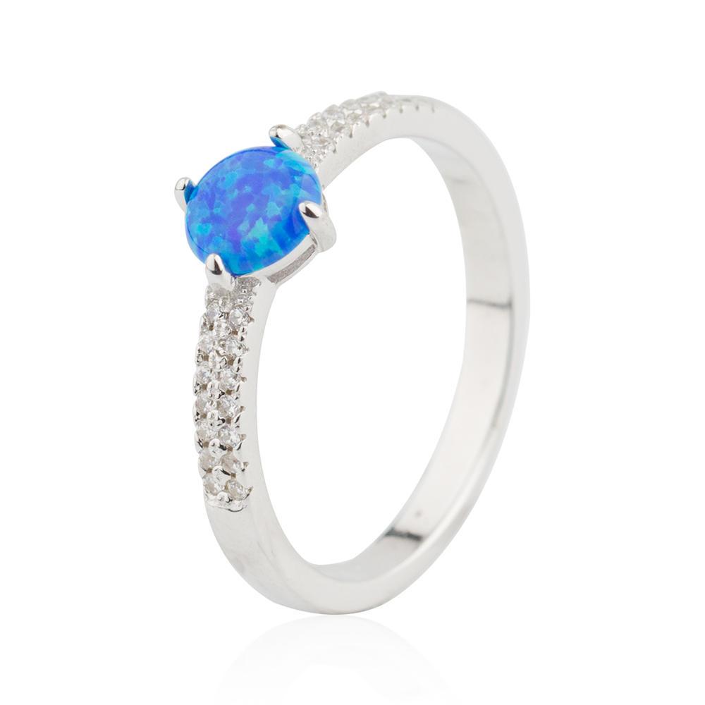 Opal Ring OEM Design 925 Sterling Silver 7MM Simple Design Jusnova Silver