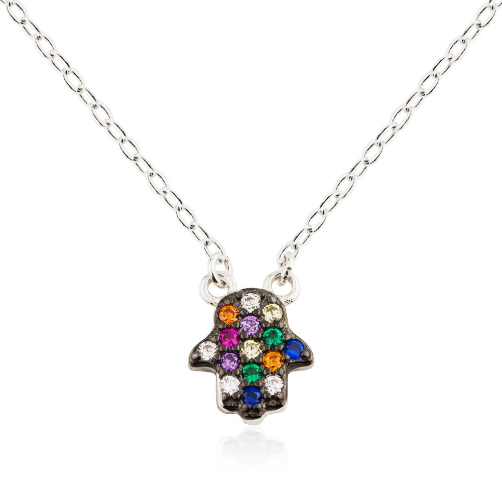 Jewelry Wholesale Hand Pendant Necklace 925 Sterling Silver Jusnova Silver  AN10180