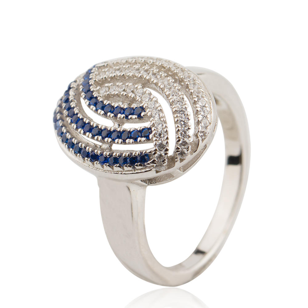 Crystal Oval Zircon Ring 925 Sterling Silver Jusnova Silver AR10297-L20
