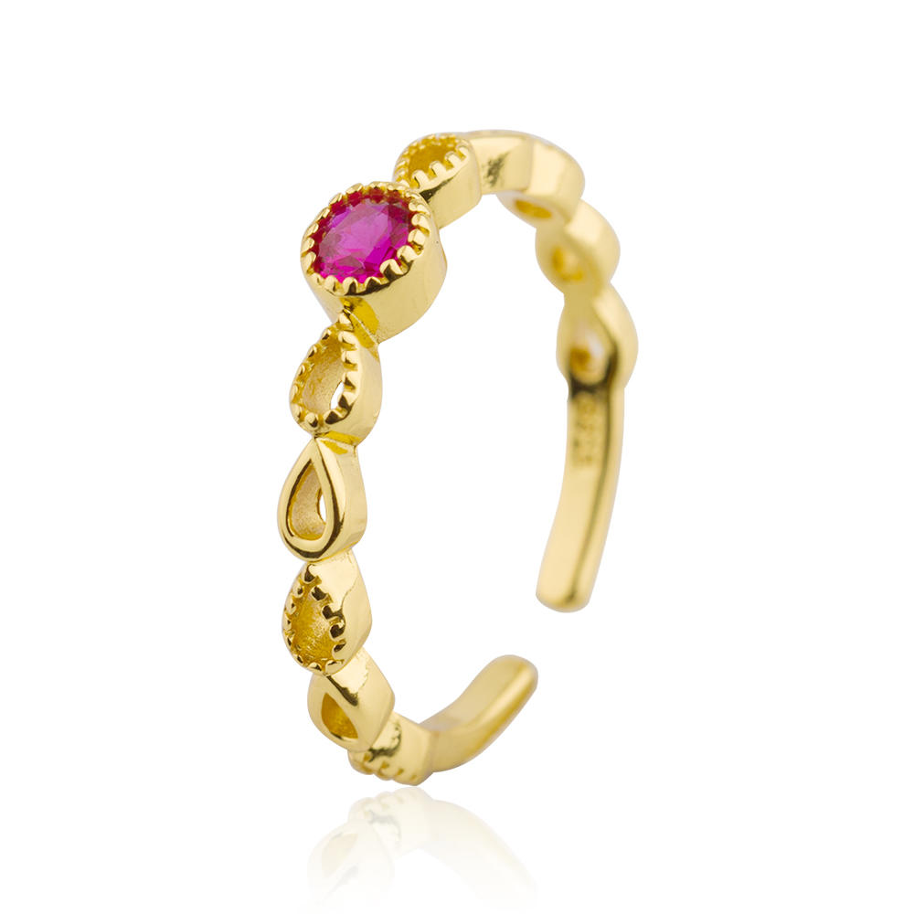 Women Ring With Pink Zircon 925 Sterling Silver Jusnova Silver AR20298-M113