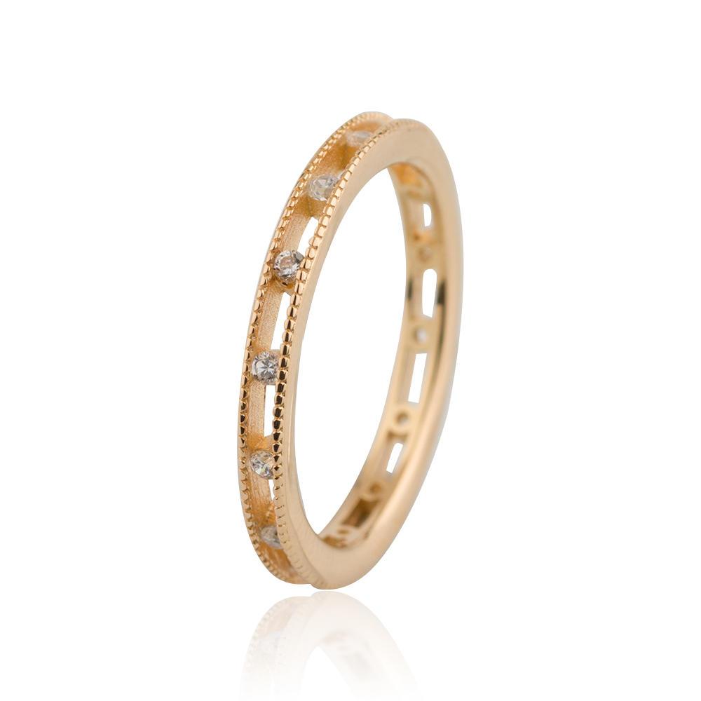 Rose Gold Plain Design Ring 925 Sterling Silver Jusnova Silver AR20299-M113