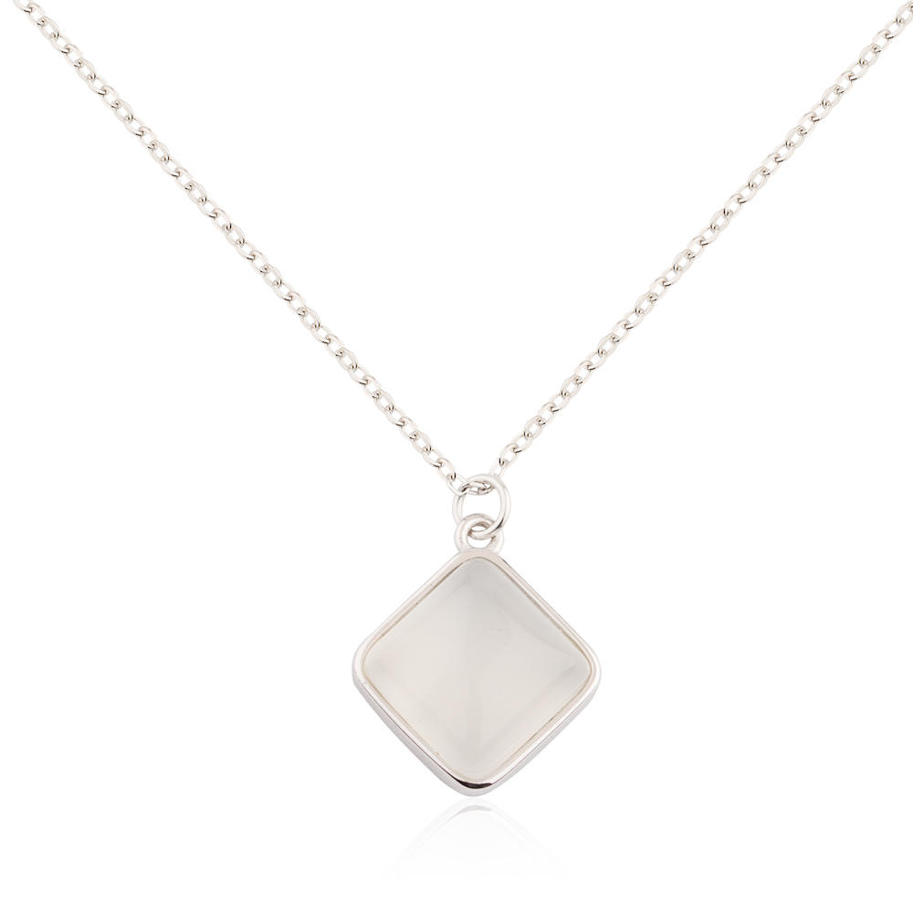Baiyu Jewelry geometric 925 silver necklace simple designs for female