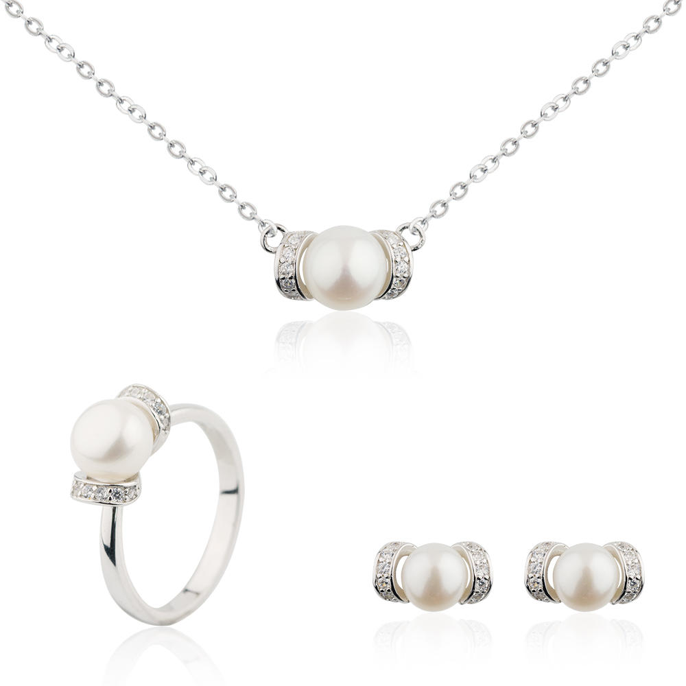 Best Friend Necklace Set 925 Sterling Silver Leave Base Shape Jusnova Silver AS30351