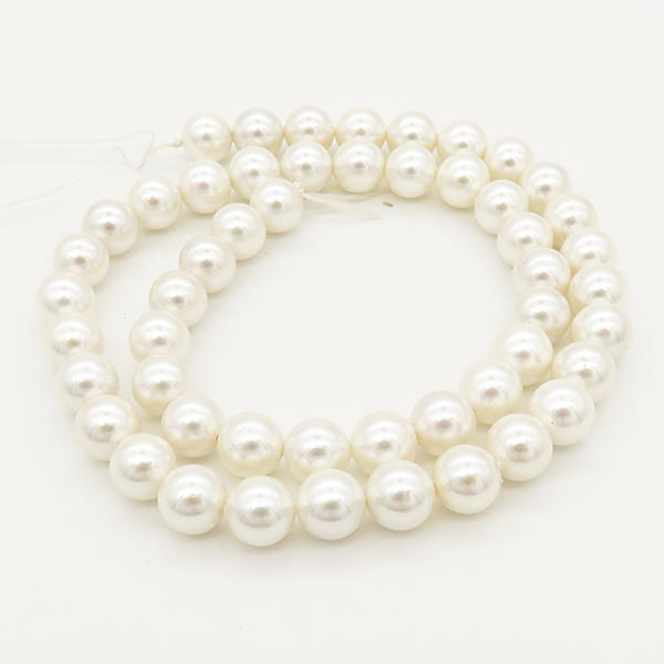 Powellbeads 6-16mm Perfect Round Shell Pearl Strands XBSP00003vbnb-L001