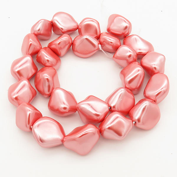 Powellbeads AAA Perfect Round Simple Design Pearl Necklaces Shell Pearls In Pink Color XBSP00035ahjb-L001