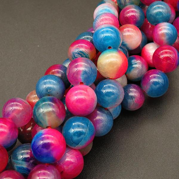 Powellbeads MultiColors Round Imitation Rainbow Beads Holes DIY Handmade Accessories
