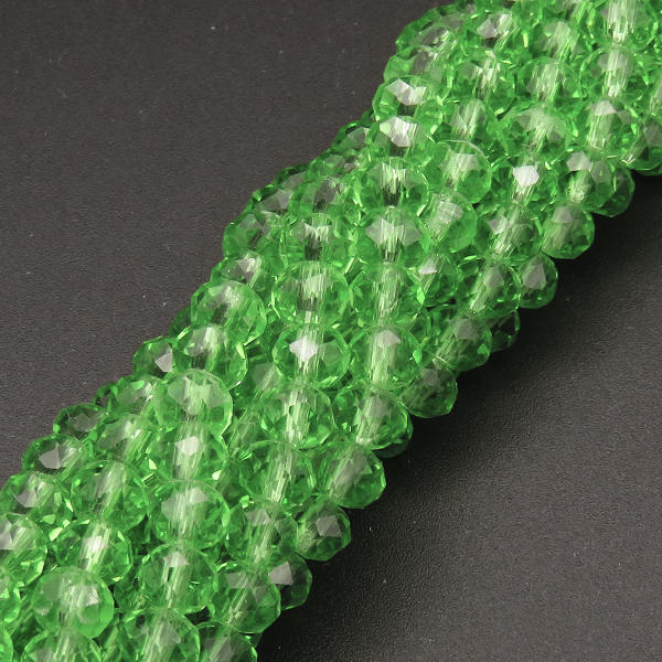 Powellbeads Light Green Transparent Polygon Normal Glass Beads Crystal Beads Wholesale