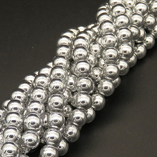 Powellbeads Silver Color Hotsale Round And Electroplate Glass Beads XBG00476avja-L004