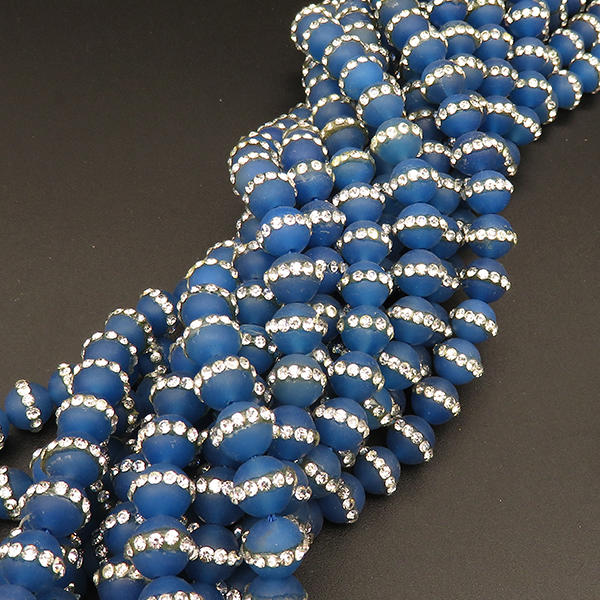 12mm Round Agate Stones Dyed Blue Agate Beads Natural Carnelian Beads Wholesale