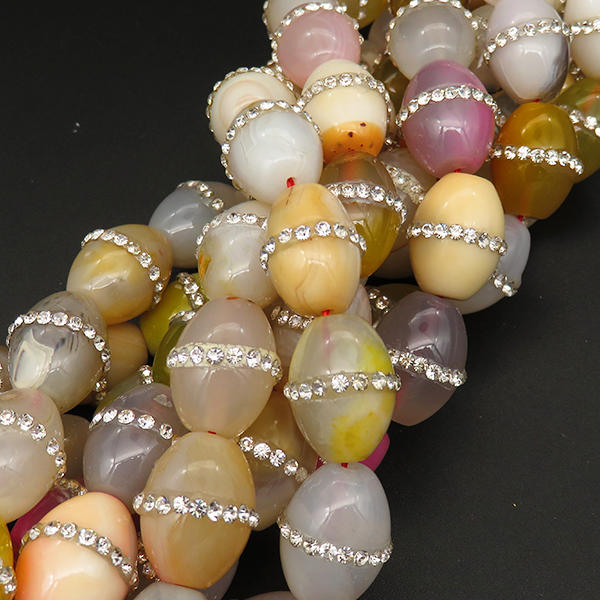 Powellbeads OEM Best Asian Jewelry Gemstone Natural Crystal Beads Multicolors Agate Beads Wholesale