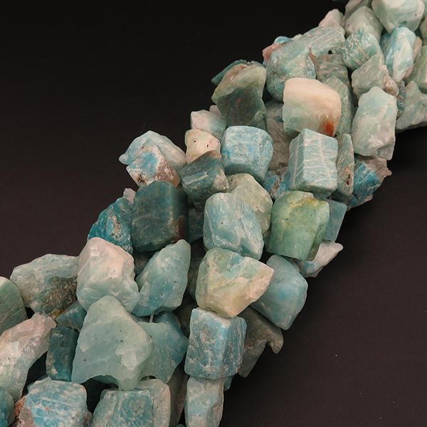 Handmade Natural Amazonite Irregular Shape And Blue Loose Gemstone Beads XBGB04350vhmv-L001