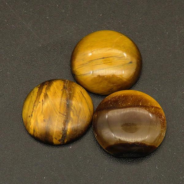 Powellbeads Gold Tiger Eye Onyx Howlite Amethyst Crystal Agate Natural Gemstone Cabochon XFCA00077aahm-L001