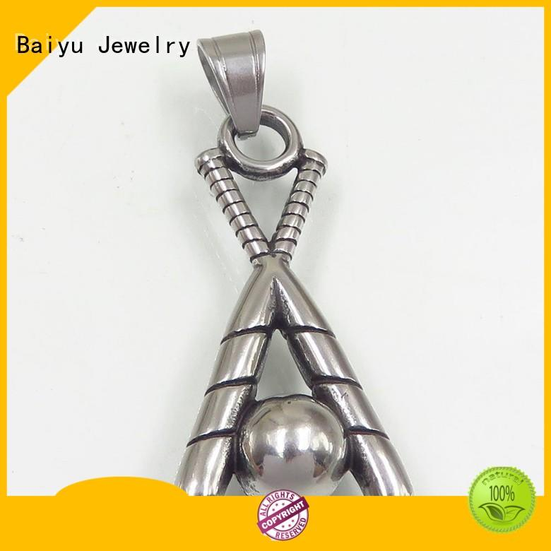 Baiyu Jewelry custom stainless steel pendant free sample