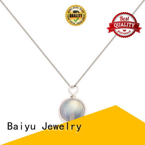 Baiyu Jewelry 925 silver necklace red for lady