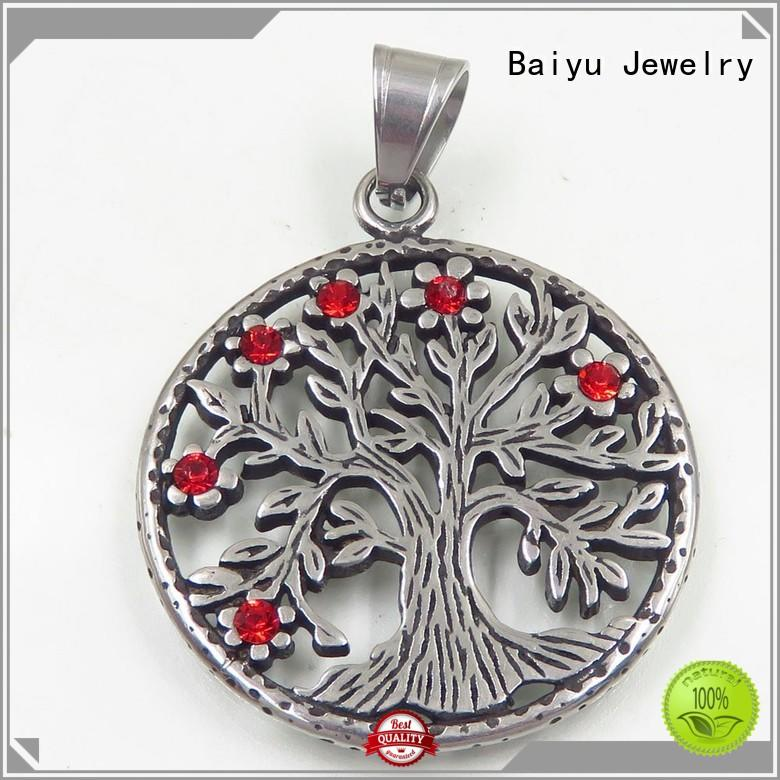 Baiyu Jewelry romantic custom made stainless steel pendants at discount for women