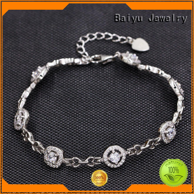 friendship ladies silver bracelets material plated for girl