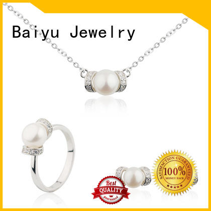 Baiyu Jewelry competitive price 925 silver set charming for women