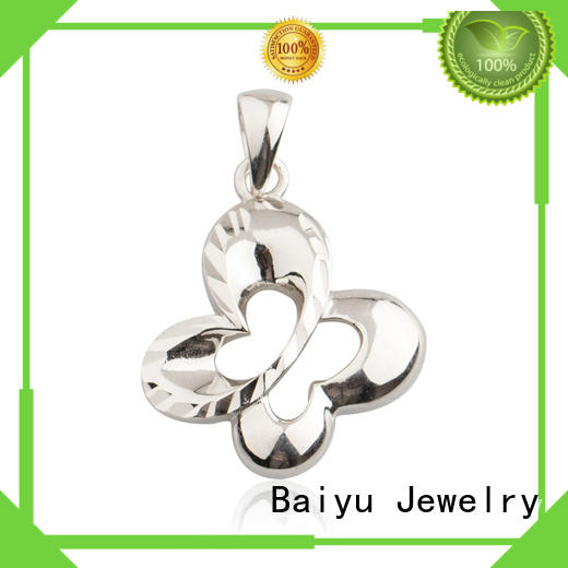 Baiyu Jewelry maple left pendants for women colorful for lady
