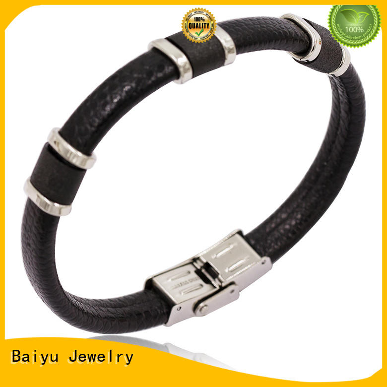 Baiyu Jewelry high-end leather bangle rope for wholesale