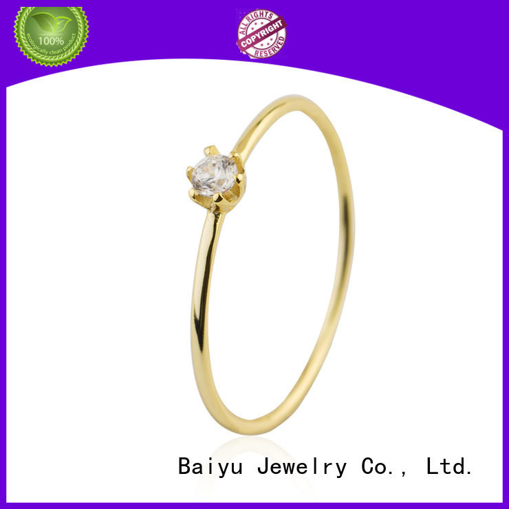 Birthday Gift Gold Crystal Zircon Jewelry Rings 925 Sterling Silver Jusnova Silver AR20300-M113