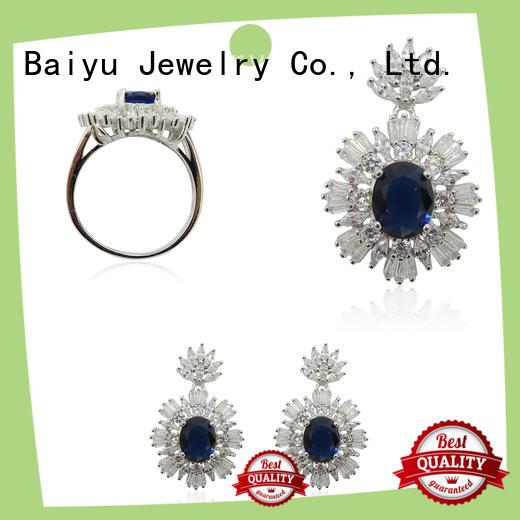 Baiyu Jewelry fashion silver jewellery set for women