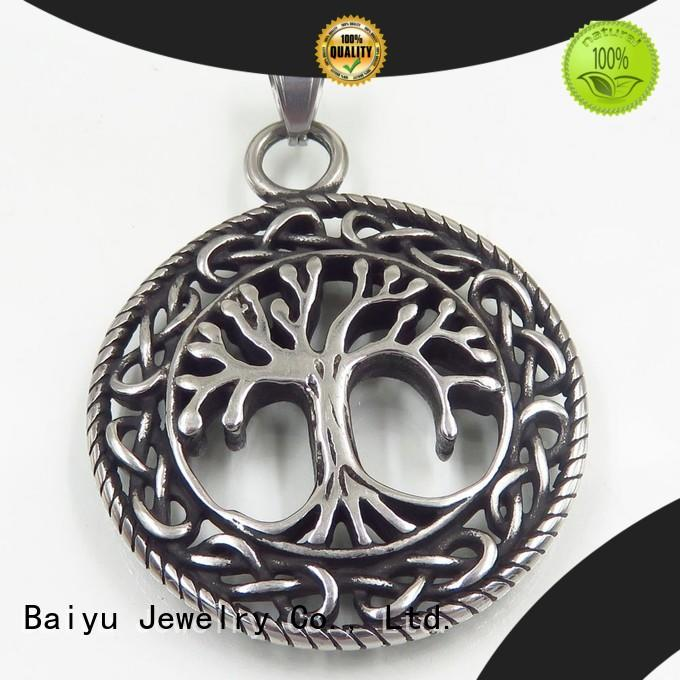 Baiyu Jewelry mens stainless steel pendants for wholesale for gift