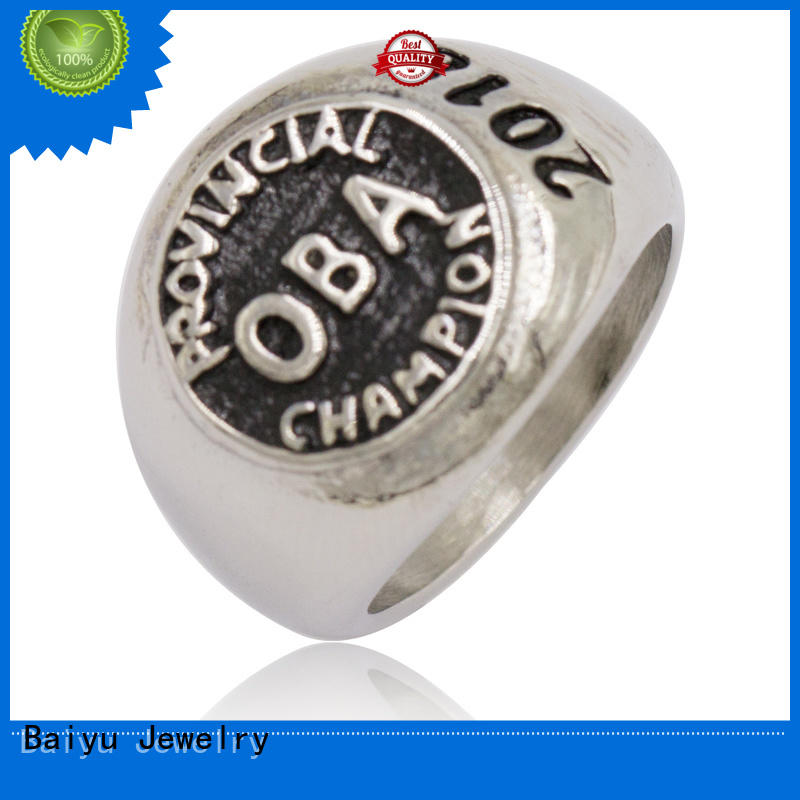 Baiyu Jewelry special stainless steel rings with stones for wholesale for gift