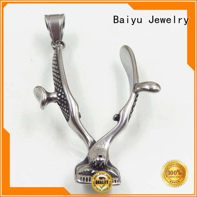 heart-shaped stainless steel angel pendant hollow for girl Baiyu Jewelry