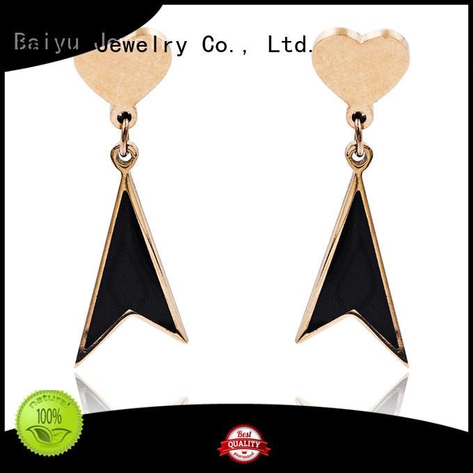 latest elegant dangle earrings fashionable for gifts Baiyu Jewelry