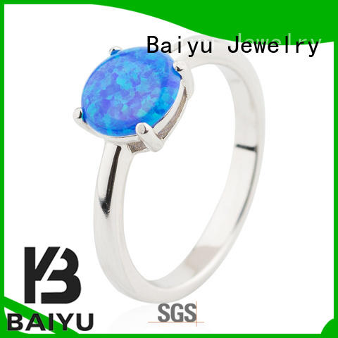 8MM Opal Sterling Silver Ring 925 Sterling Silver Fashion Style Jusnova Silver
