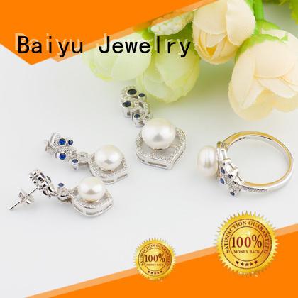 fashion sterling silver set green gemstone for women