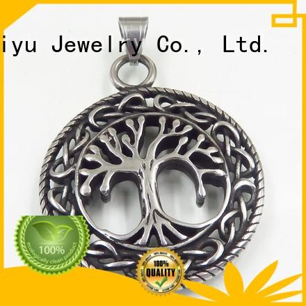 Baiyu Jewelry three-dimensional stainless steel pendant free sample for lady