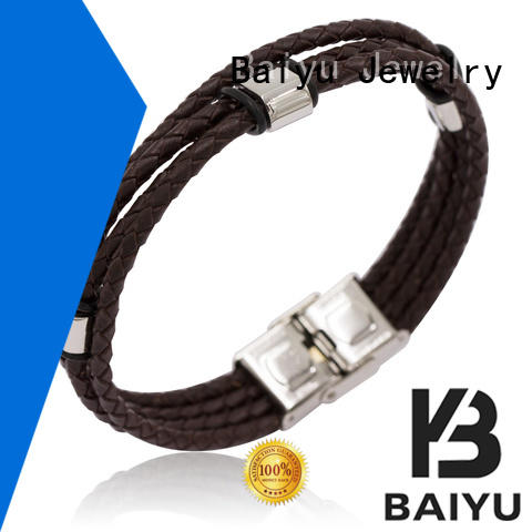 Baiyu Jewelry price ladies leather bangles top brand for wholesale