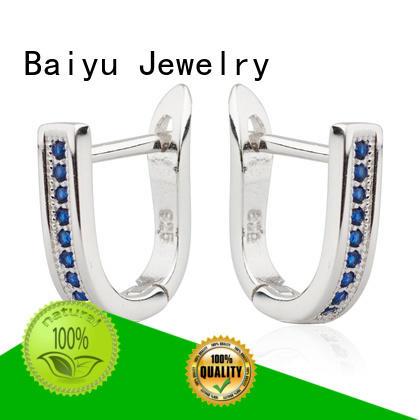 Baiyu Jewelry 925 silver earrings by bulk