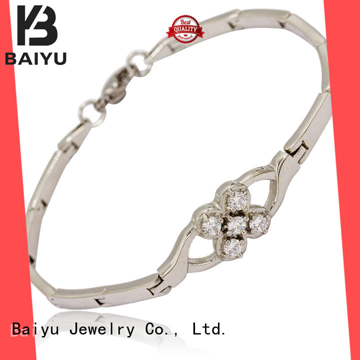 fashion stainless steel chain bracelet bulk production for lady