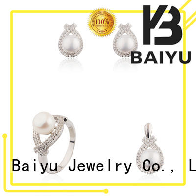 crystal necklace and bracelet set sale personalized color for women Baiyu Jewelry