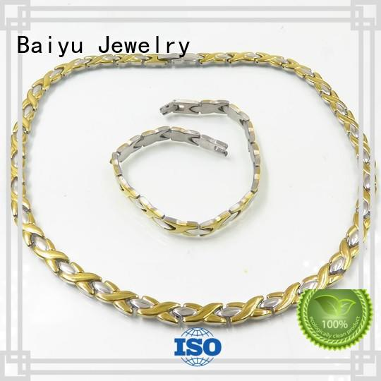 Baiyu Jewelry flat necklace and bracelet circle for gift