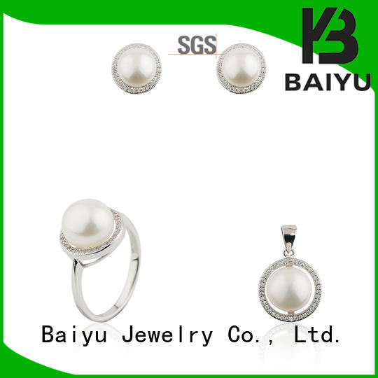 Baiyu Jewelry crystal ladies jewellery set new arrival for girls