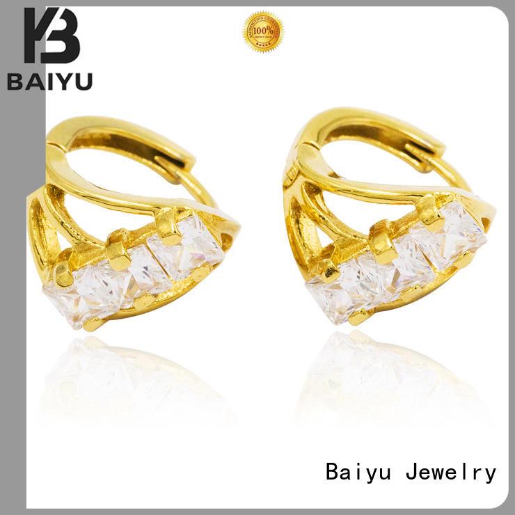 womens earrings flower for wife Baiyu Jewelry
