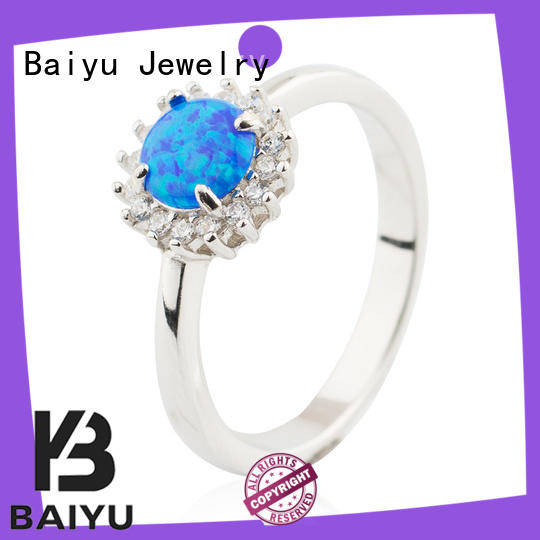 Opal Ring Women Accessories 925 Sterling Silver Wholesale Market Jusnova Silver