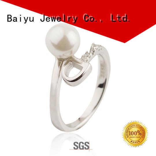 rhodium 925 silver ring opal for birthday