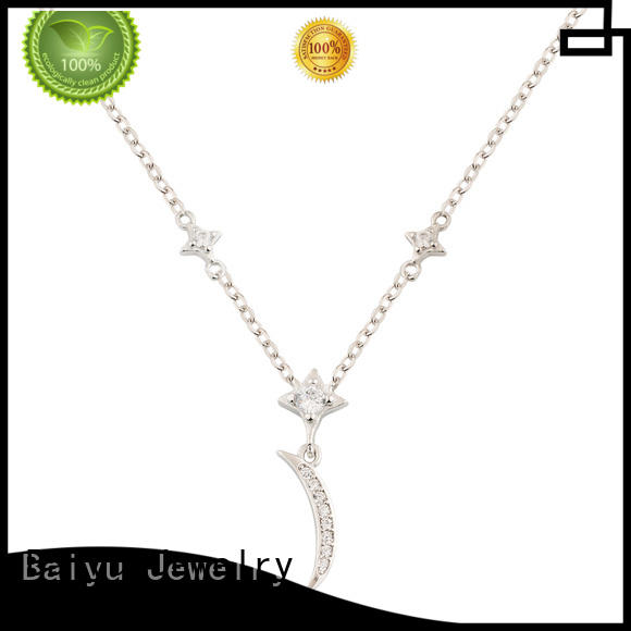 cute cat 925 silver necklace simple designs