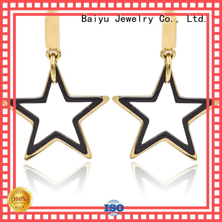shaped modern dangle earrings colorful for ladies Baiyu Jewelry