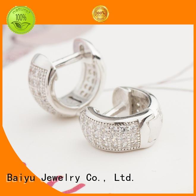 925 sterling silver earrings long chain for lady Baiyu Jewelry