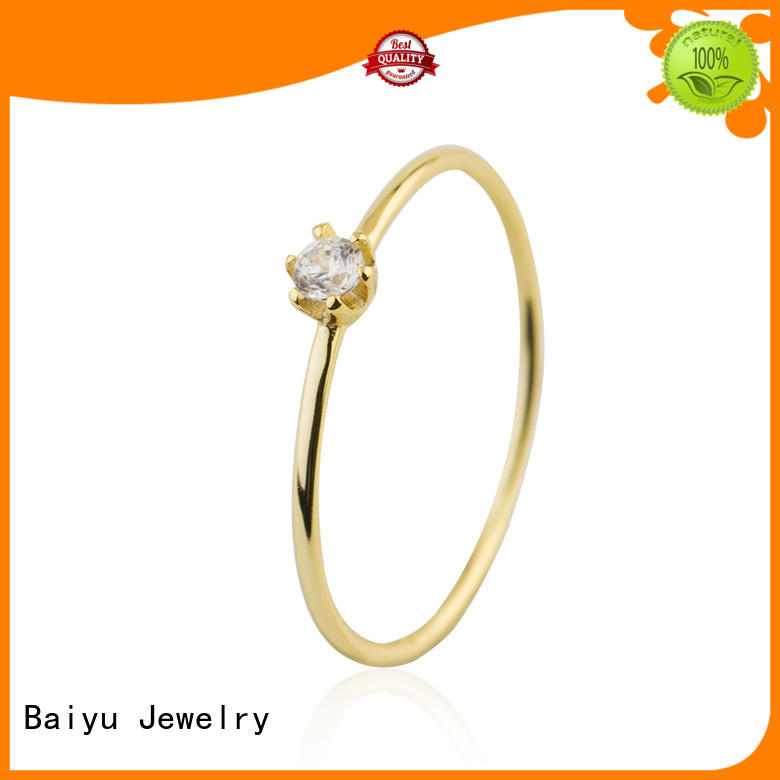 zircon 925 sterling silver rings elegant for female