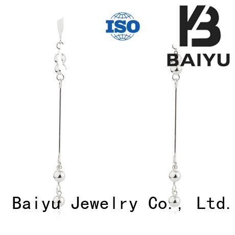 silver earrings online bulk production for lady