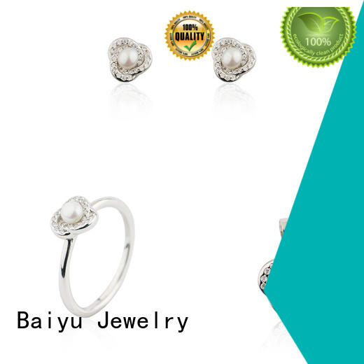 Baiyu Jewelry sterling silver jewelry sets charming for ladies