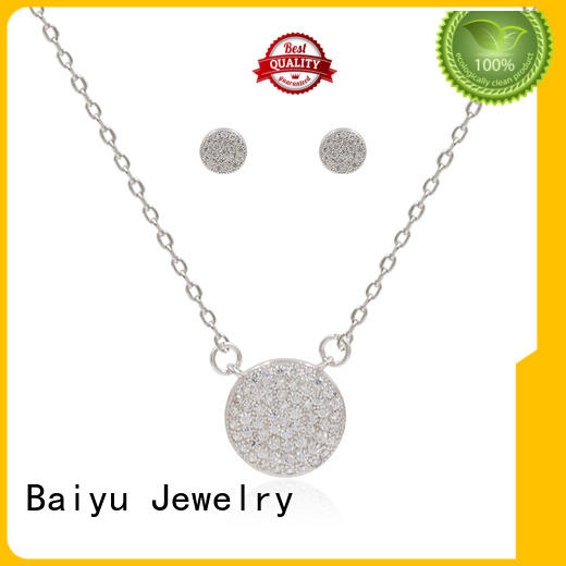beautiful sterling silver set necklace for ladies