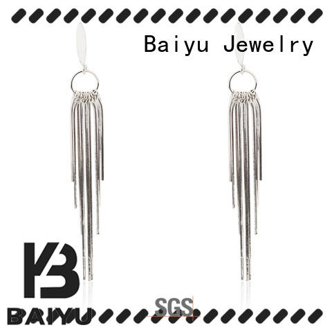 Baiyu Jewelry 925 silver earrings for wholesale for girlfriend