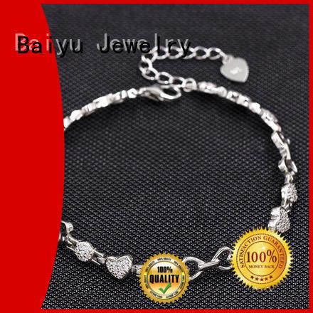 Ebay Hotsale Styles 925 Sterling Silver Love Hearts Bracelet  AS00039-L46